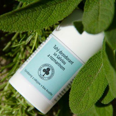 Tuhé prírodné dezodoranty