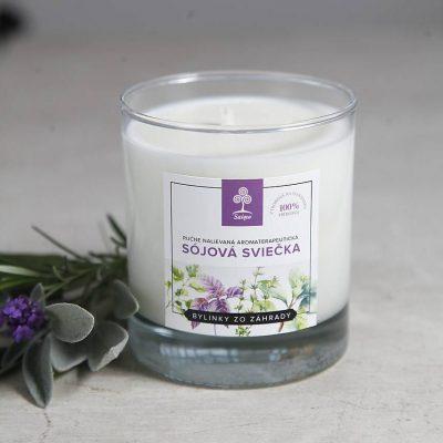 Aromaterapeutické sojové sviečky